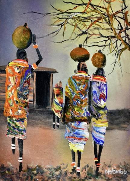 Painting - N-168 by John Ndambo