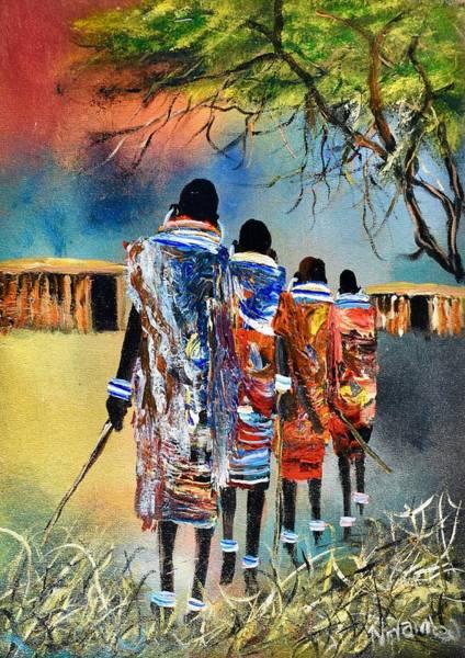 Painting - N-169 by John Ndambo