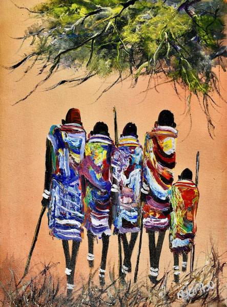 Painting - N-174 by John Ndambo