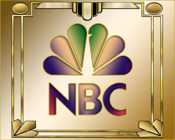 Digital Art - N B C Logo - Art Deco by Chuck Staley
