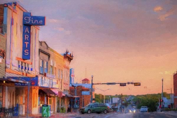 Digital Art - N Elm In Denton  by JC Findley