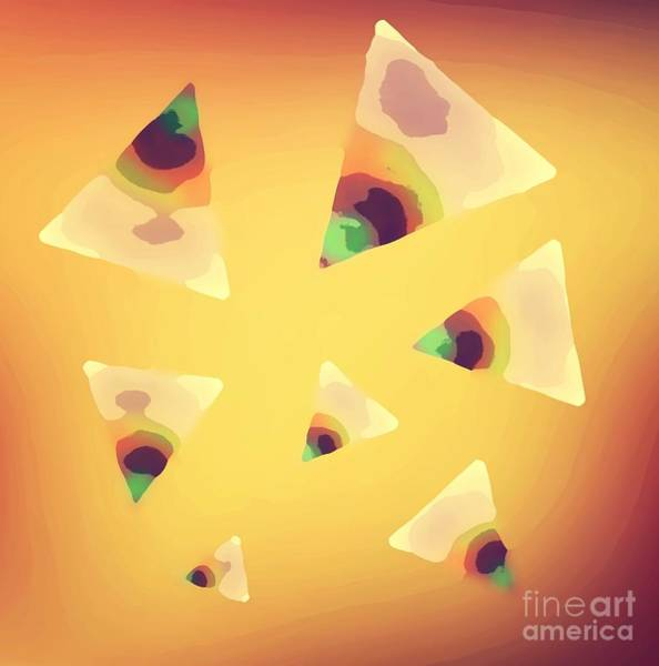 Mixed Media - Nacho Abstract by Rachel Hannah