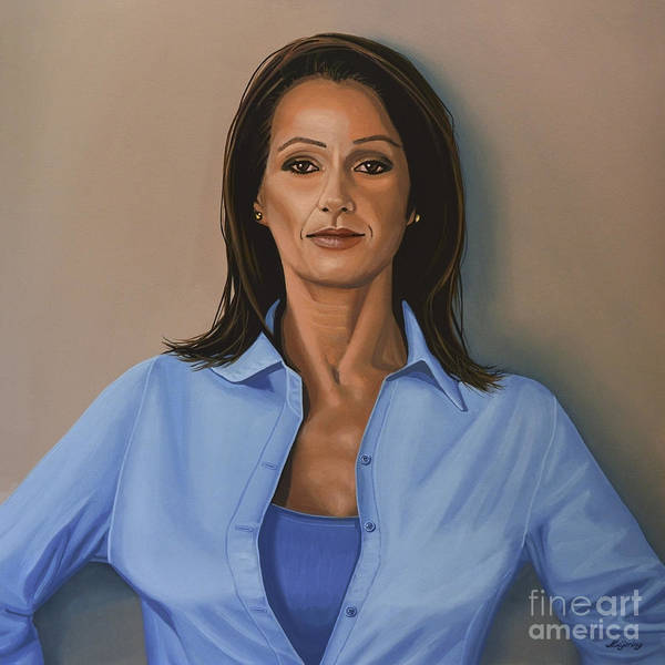 Pastel Portrait Wall Art - Painting - Nadia Comaneci by Paul Meijering