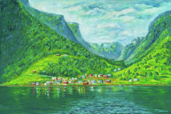 Painting - Naeroyfjord Norway by Stan Sweeney