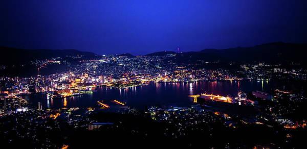 Ropeway Photograph - Nagasaki Ropeway Nightview by Philip Walker