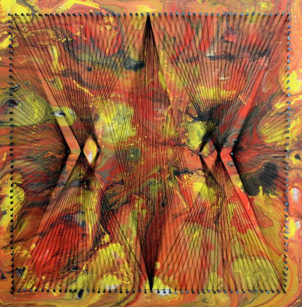 Thread Mixed Media - Nailed It Series No. 33 by Sumit Mehndiratta