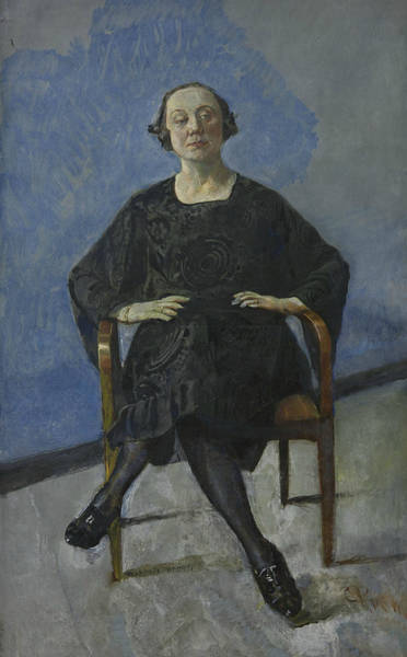 Painting - Naima Wifstrand, The Actress by Christian Krohg