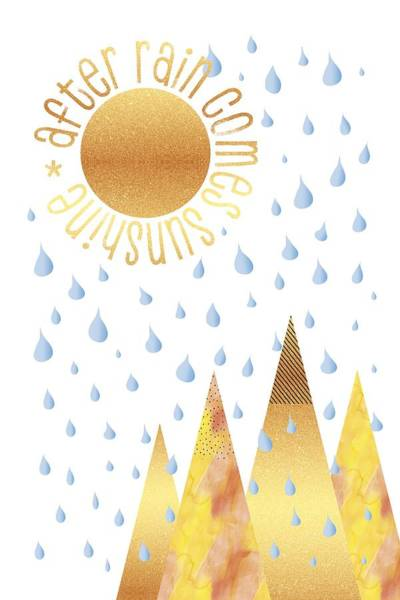 Life After Life Wall Art - Digital Art - Naive Graphic Art After Rain Comes Sunshine by Melanie Viola