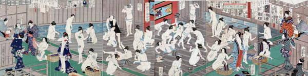 Wall Art - Painting - Naked Bodies by Toyohara Kunichika