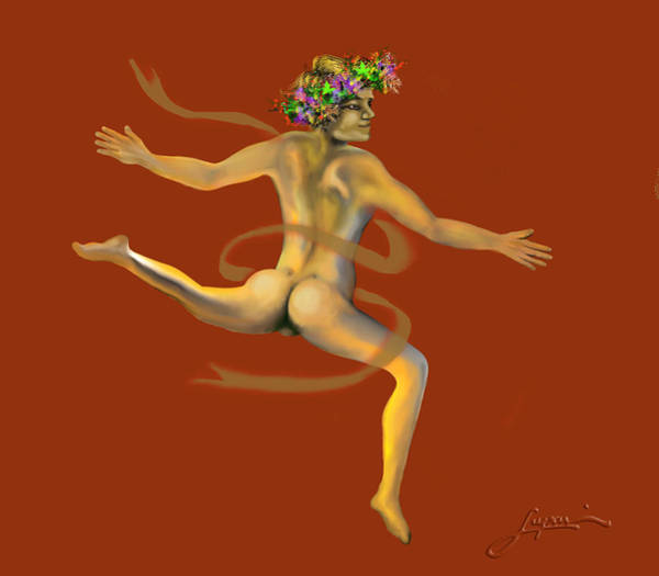 Painting - Naked Dancer by Thomas Lupari