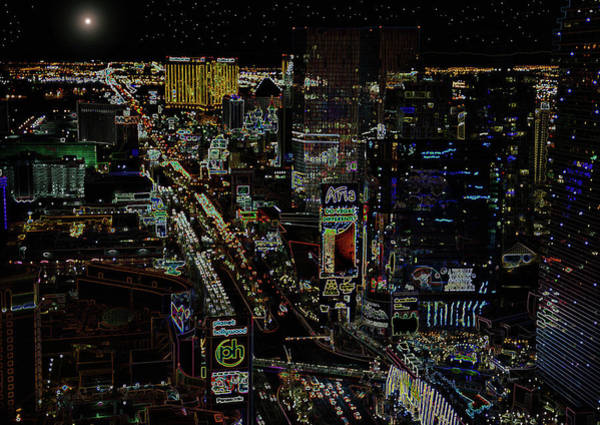 Wall Art - Photograph - Naked Moon Over The Strip by David Lee Thompson