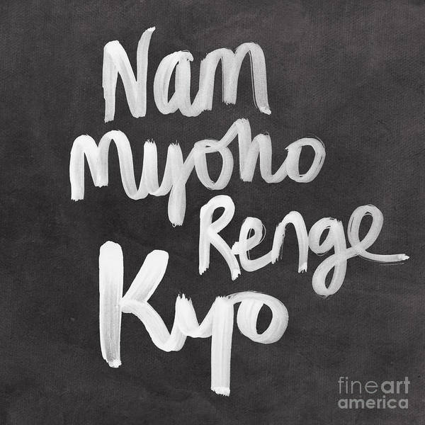 Words Mixed Media - Nam Myoho Renge Kyo by Linda Woods