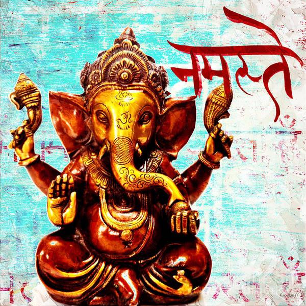 Mixed Media - Namaste Bhagavaan Ganesh by Lita Kelley