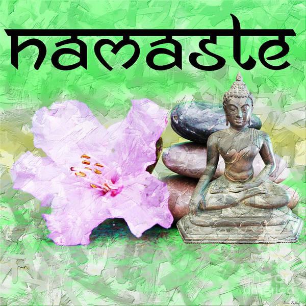 Mixed Media - Namaste Buddha. V2 by Lita Kelley