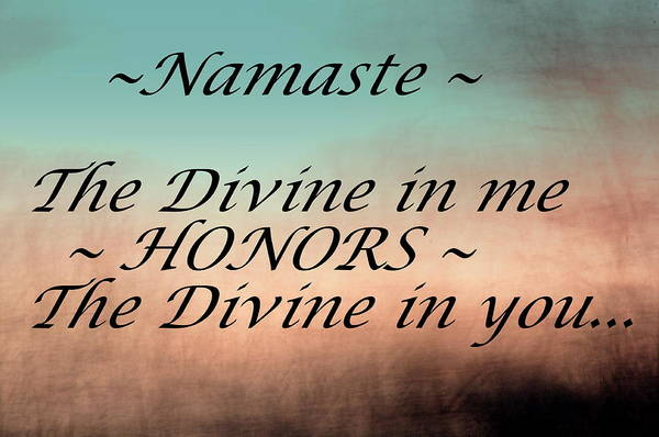 Photograph - Namaste by Buddy Scott