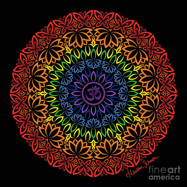 Digital Art - Namaste Mandala by Heather Schaefer