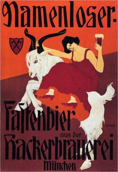 Beer Mixed Media - Namenloser - Fastenbier - Vintage Beer Advertising Poster by Studio Grafiikka