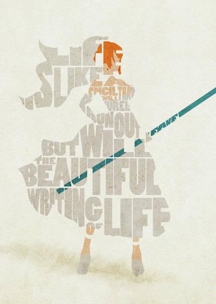 Digital Art - Nami Typography Art by Inspirowl Design