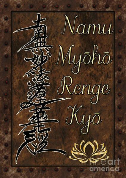 Mixed Media - Namu Myoho Renge Kyo by Lita Kelley