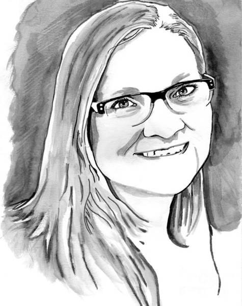 Drawing - Nancy by Bill Richards