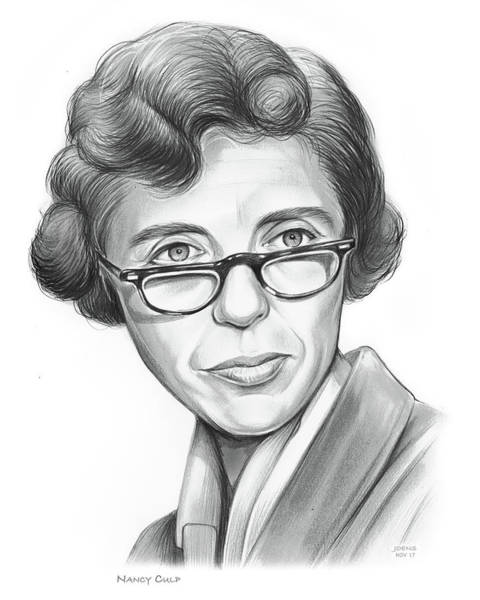 Actress Drawing - Nancy Culp by Greg Joens