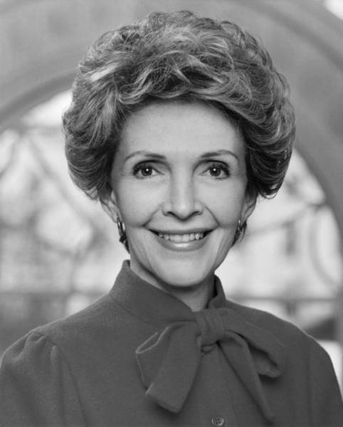 Republican Party Photograph - Nancy Reagan Official Portrait  by War Is Hell Store