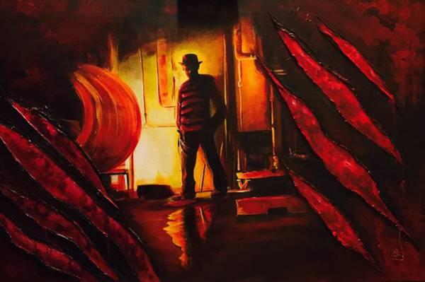 Nightmare On Elm Street Painting - Nancy's Nightmare by Brandon Beamer