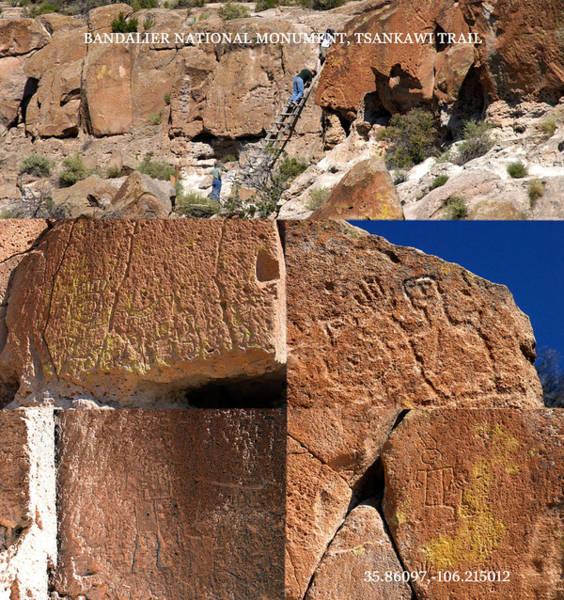 Wall Art - Photograph - Bandalier Nm Rock Art Site Tsankawi by David Lee Thompson