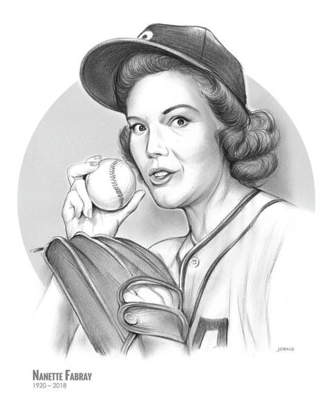 Actress Drawing - Nanette Fabray by Greg Joens