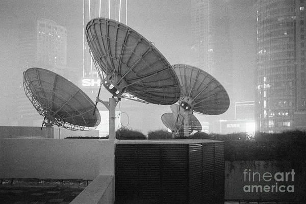 Wall Art - Photograph - Nanjing Satellites In Black And White by Dean Harte