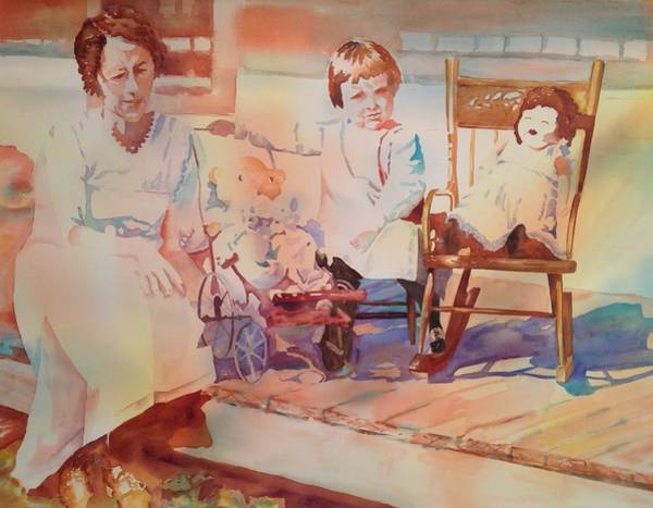 Painting - Nannie  Auntie And Her Dollies by Tara Moorman