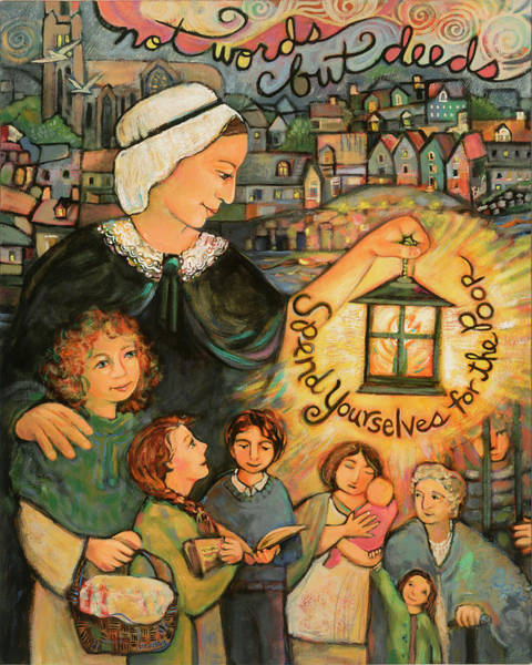Wall Art - Painting - Nano Nagle, Foundress Of The Sisters Of The Presentation by Jen Norton