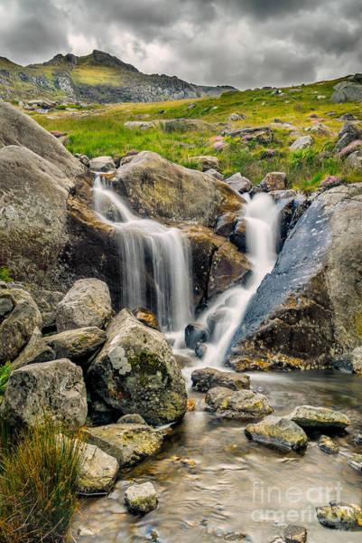 Wall Art - Photograph - Nant Bochlwyd Waterfall by Adrian Evans