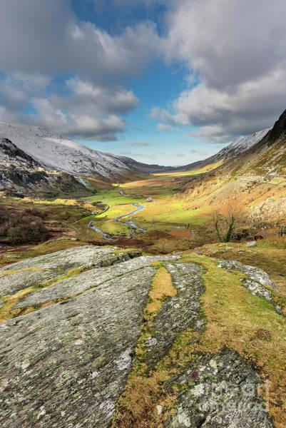 Bethesda Photograph - Nant Ffrancon Valley In Snowdonia by Adrian Evans