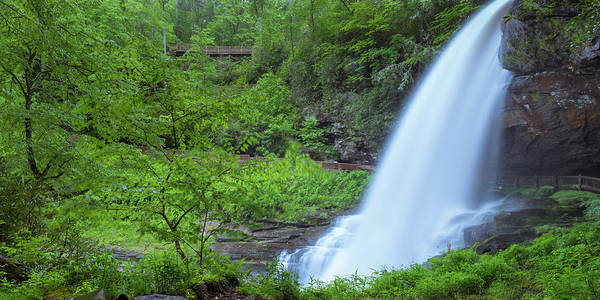 Photograph - Nantahala National Forest Dry Falls In Rain Panorama by Ranjay Mitra