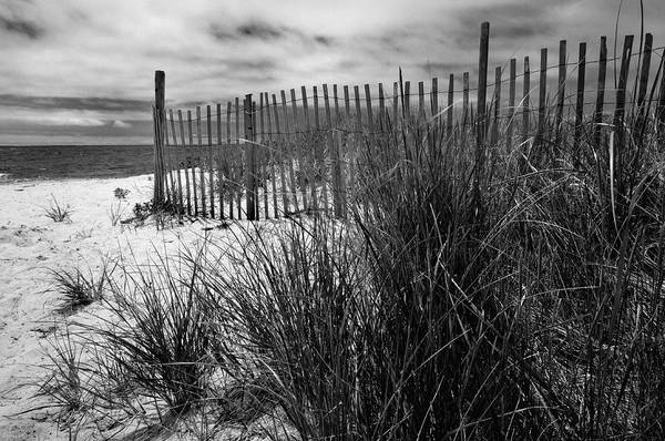 White Fence Photograph - Nantucket Harbor Beach Dunes  by T-S Fine Art Landscape Photography