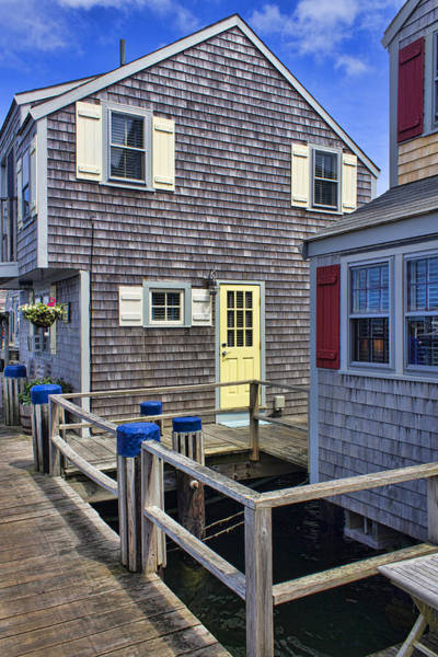 Photograph - Nantucket Harbor Homes - Architecture Series 20 by Carlos Diaz