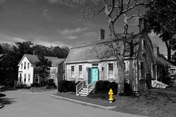 Photograph - Nantucket House Bw Series 6727 by Carlos Diaz