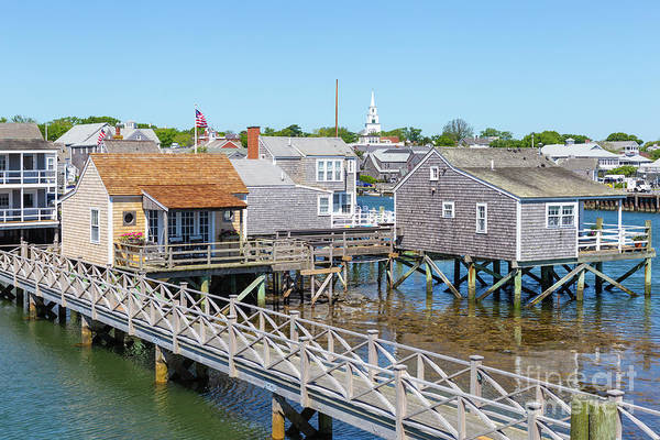 Photograph - Nantucket Old North Wharf Cottages I by Clarence Holmes