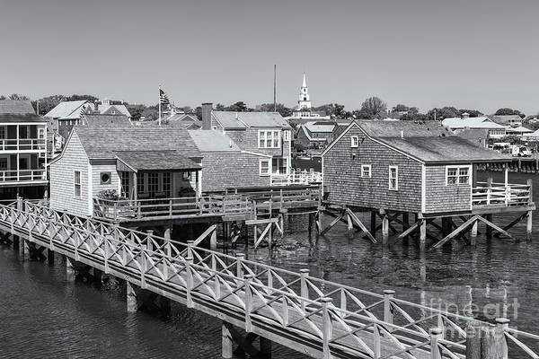 Photograph - Nantucket Old North Wharf Cottages II by Clarence Holmes