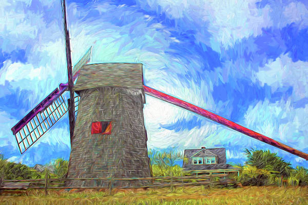 Photograph - Nantucket Windmill Series 7148 by Carlos Diaz