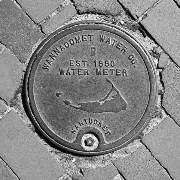 Wall Art - Photograph - Nantucket Water Meter Cover by Charles Harden