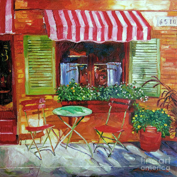 Bistros Painting - Napa Bistro by David Lloyd Glover
