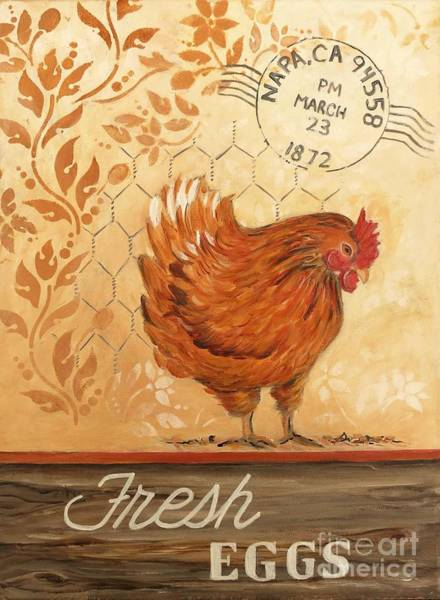 Holly Brannan Wall Art - Painting - Napa Chicken by Holly Bartlett Brannan