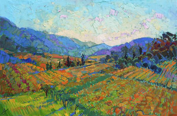 Burgundy Painting - Napa In Color by Erin Hanson