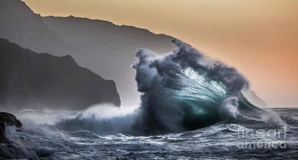 Photograph - Napali Coast Hawaii Wave Explosion IIi by Dustin K Ryan