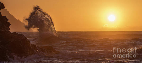 Wall Art - Photograph - Napali Coast Kauai Hawaii Wave Explosion Iv by Dustin K Ryan