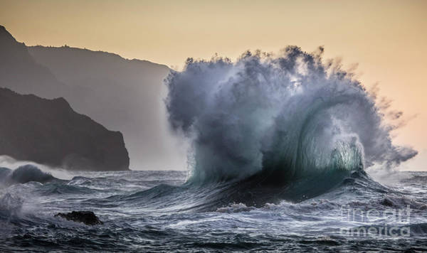 Photograph - Napali Coast Kauai Wave Explosion by Dustin K Ryan