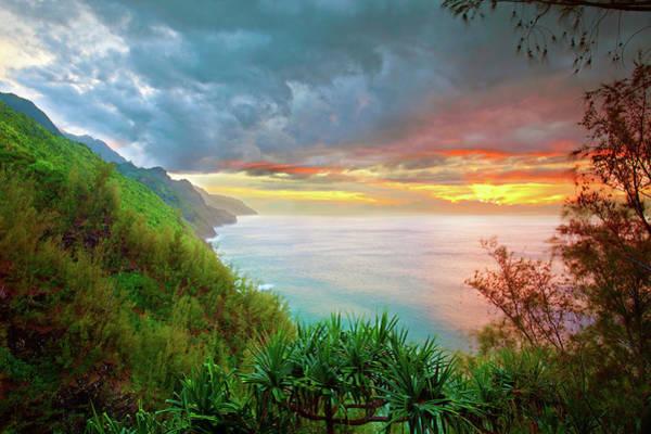 Kalalau Trail Wall Art - Photograph - Napali Coast Sunset by Brian Knott Photography
