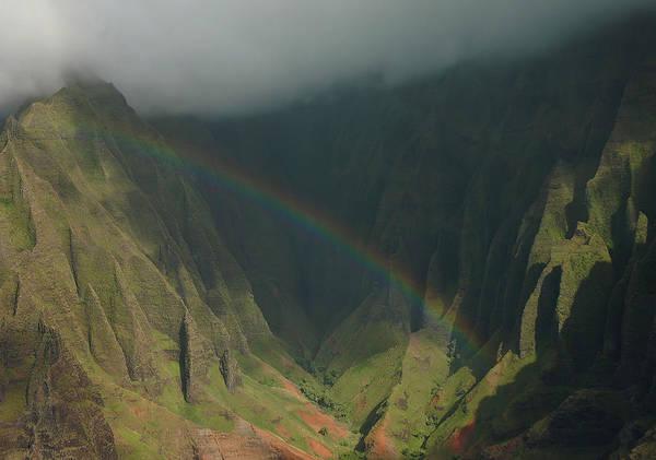 Wall Art - Photograph - Napali Valley Rainbow - Kauai by Stephen  Vecchiotti
